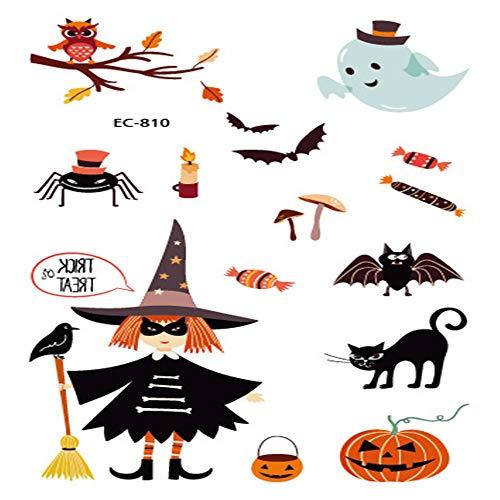 zgmtj Halloween lustige Cartoon Spaß Tattoo Aufkleber EC-810 120 * 75mm