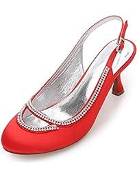 Elegant high shoes Boda de Las Mujeres F17061-29 Cerrado del Dedo del Pie Bombas de Diamantes de Imitación Chunky...