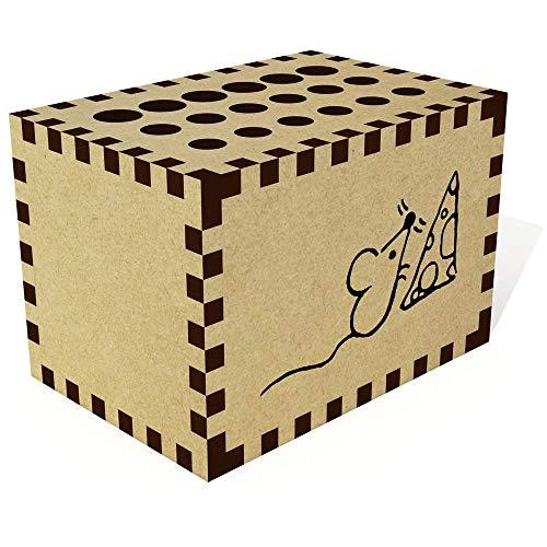 Azeeda 'Maus mit Käse' Bleistift Block / Halter (PB00019777) (Von Käse Block)