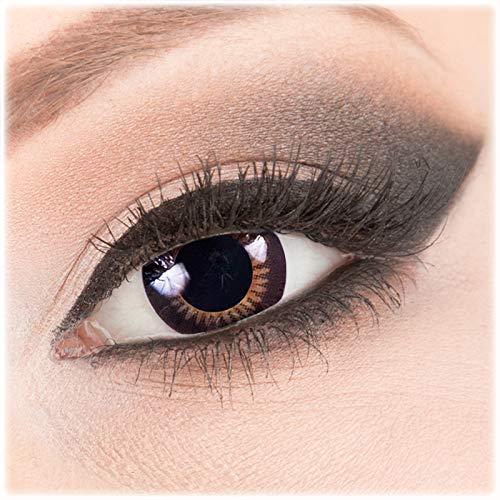 Meralens braune Circle Lenses Natural Ring mit Behälter ohne Stärke 14mm Big Eyes farbige Kontaktlinsen