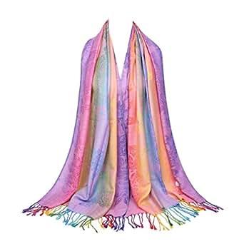 Image indisponible. Image non disponible pour la couleur   TOPSTORE01  Foulard Femme Rose Coton Écharpe Élégante Châle Chaud Étole ... cd38b0f1c8f