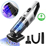 Handheld Vacuums Cordless Car Vacuum Cleaner,PHYSEN 6KPa 120W Powerful Cyclonic Suction Hand Hoover,Motorized