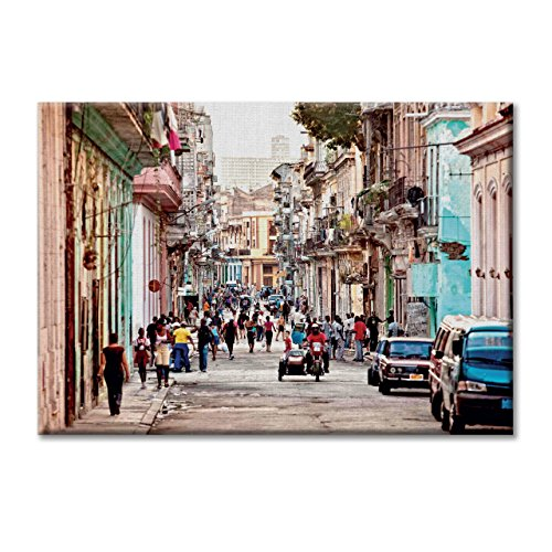 and Kuba Havanna Strassen Farben-Dekor 70x50 cm (Pizzeria Dekor)