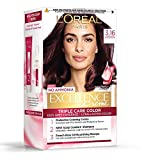 Loreal Paris Excellence Creme Hair Color - Burgundy 316, 72ml + 100gm