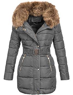 Zarlena – Abrigo de invierno de piel sintética para mujer