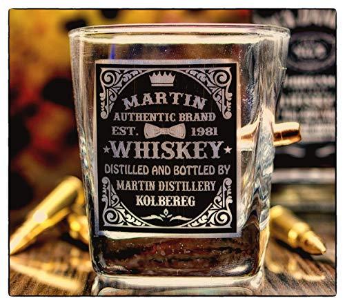 - Personalisiertes Whiskyglas Label mit Geschoß cal.308 ()