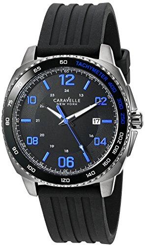 Caravelle New York Men's Quartz Stainless Steel Dress Watch (Model: 45B144)