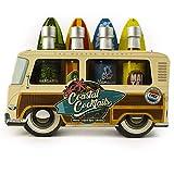 Modern Gourmet Foods, Mezcladoras para Cocteles Woody Bus Veraniego Mezcladoras para Coctel, Paquete de 4: Incluye Sabores Tropicales Margarita, Mojito, Mai Tai y Blue Hawaiian