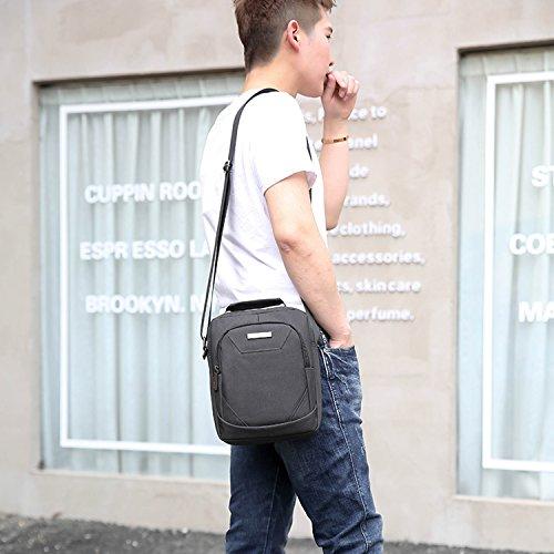 Outreo Borsello Vintage Borse a Spalla Tablet Borsa Tracolla Viaggio Sacchetto Uomo Borsetta per Sport Tasche Scuola Studenti Messenger Bag Nero