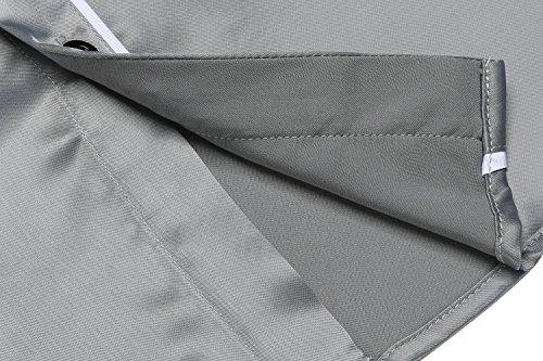 """Coofandy herren lässig langarm hemd aus satin - l ä nzenden luxus """"- shirts Grau"""
