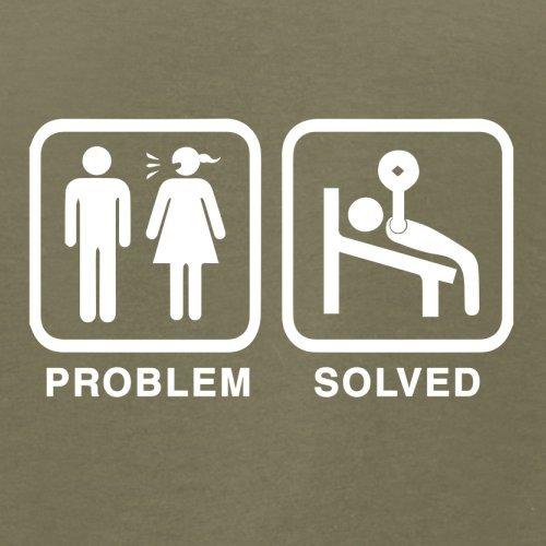 Problem gelöst - Fitnessstudio - Herren T-Shirt - 13 Farben Khaki