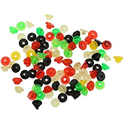 Generic 100Pcs Rubber Grommets Nipples for Tattoo Machine Needles Body Art