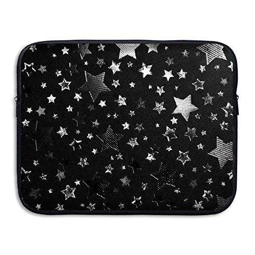 ZMviseMetallic Silver Stars die schlanke, gepolsterte laptop weicher neopren - ärmel tasche fall decken für notebook - computer ipad - tablet (Kitchenaid-zubehör Fall)