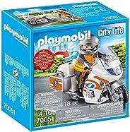 PLAYMOBIL City Life 70051 Motocykl ratowniczy ze światłem, od 4 lat