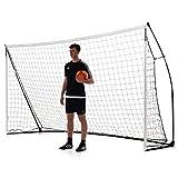 Quick Play Sport Kickster Academy Futsal - Porta da Calcio Portatile, 3 x 2 m, Colore: Giallo