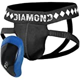 Diamond MMA 4-Strap Supporter Jock Supporter With Cup - Black/Blue