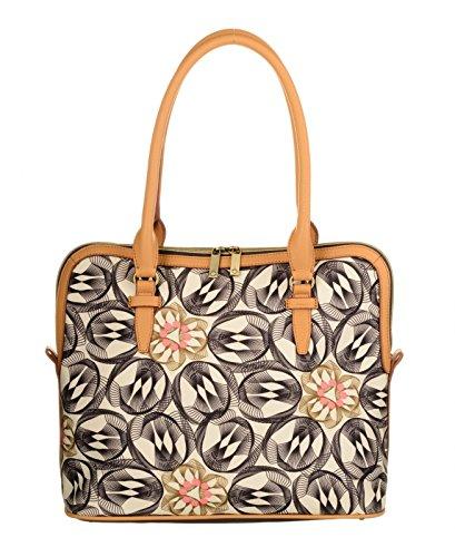 Oilily Damen M Carry All Schultertasche, Grau (Charcoal), 15x29x33.5 cm (Print Handtaschen Finden Womens)