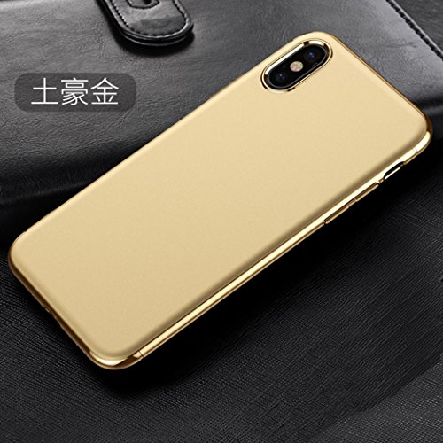 iPhone X Armor Cover With Free Screen Protector, Cool Plated Combined PC Hard Bumper Frame Ultra Hybrid Thin Custodia, TAITOU Newest Ultralight Slim Anti-Scratch Phone Cover For Apple iPhone X Mint BGold