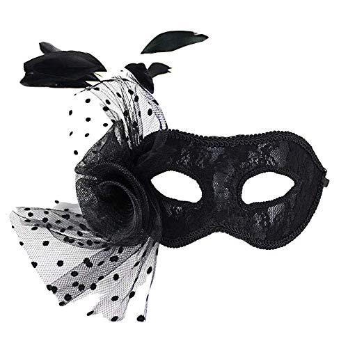 skerade Maske Königin Prinzessin Blumen Halbe Gesichtsmaske Party Hochzeit Braut (A) ()