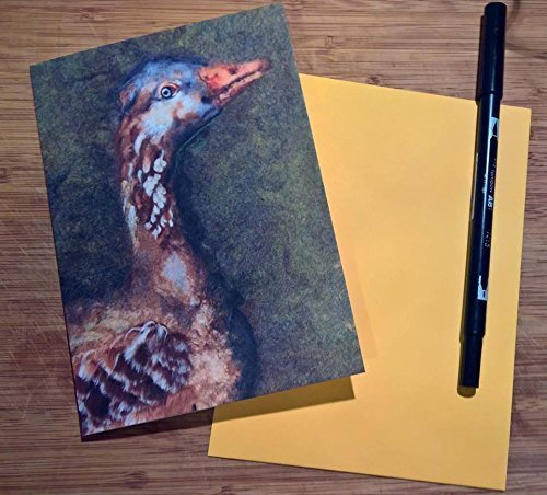 the-goose-bird-art-print-card-blank-greeting-bird-card-textile-artwork