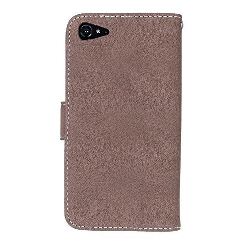 Solid Color PU-Leder Tasche horizontal matt Retro Flip-Stand Case Wallet Fall Soft Silikon-Abdeckung mit Karte Cash Slots Foto Frame für Lenovo ZUK Z2 Z2 Plus ( Color : 1 , Size : Lenovo ZUK Z2 Z2 Plu 3