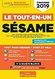 Concours SÉSAME - Tout-en-un - Concours 2019