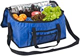 PEARL Kuehltasche: Faltbare Kühltasche mit Schultergurt & Tragegriffen, 24 Liter, blau (Auto-Kühltasche)
