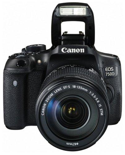 Top Canon EOS 750D Kit Fotocamera Reflex Digitale da 24 Megapixel con Obiettivo EF-S 18-135 IS STM [Versione Canon Pass Italia] Discount