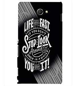 PRINTSHOPPII LIFE QUOTES Back Case Cover for Sony Xperia M2 Dual D2302::Sony Xperia M2