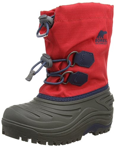Sorel Childrens Super Trooper, Unisex-Kinder Warm Gefütterte Schneestiefel, Rot (Juicy, Nocturnal 608), 31 EU (Juicy Kids Schuhe)