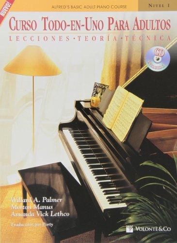 CURSO TODO EN 1 ADULTOS 1+CD (Didattica musicali) por Palmer/Manus/Lethco