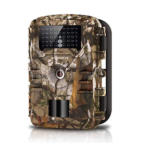 WOSPORTS Wildkamera Jagdkamera 16MP 1080P mit Bewegungsmelder Nachtsicht 42pc Schwarzlicht Wasserdicht Klein für Jäger Garten Outdoor