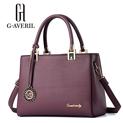 G-AVERIL, Borsa a mano donna Navy Blue Purple1
