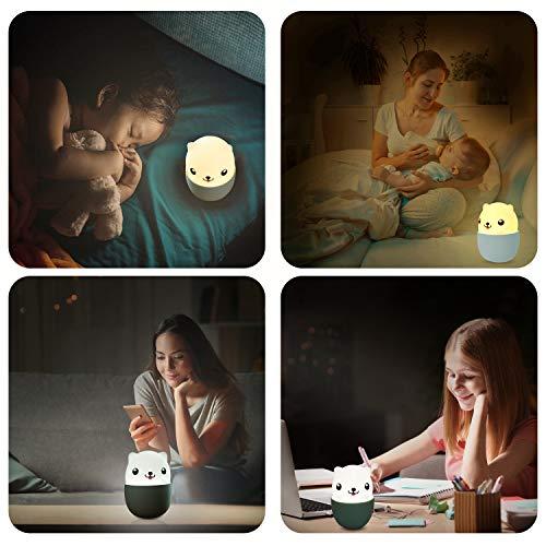 Nachtleuchte Baby Touch Lampe für Schlafzimmer, Nachtlicht Kinder mit Gelbem & Weißem Licht & Touch Schalter, Nachtlampe für das Lesen, Schlafen und Entspannen - Weißem, Schlafzimmer, schlafen, Schalter, Nachttischlampen, nachtlicht kinder, Nachtlicht, Nachtleuchte, Nachtlampe, Licht, Lesen, Lampe, Kinder, Gelbem, Entspannen, das, Baby