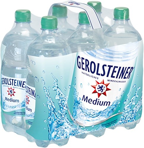 Gerolsteiner Medium Pet, 6er Pack, Einweg (6 x 1 l)