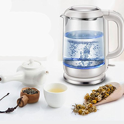 Simple And Transparent Color Home Electric Kettle Glass Kettle Insulation Kettle Portable Kettle Automatic Electric Kettle Kitchen Kettle Automatic Completion After Heating,1.5L