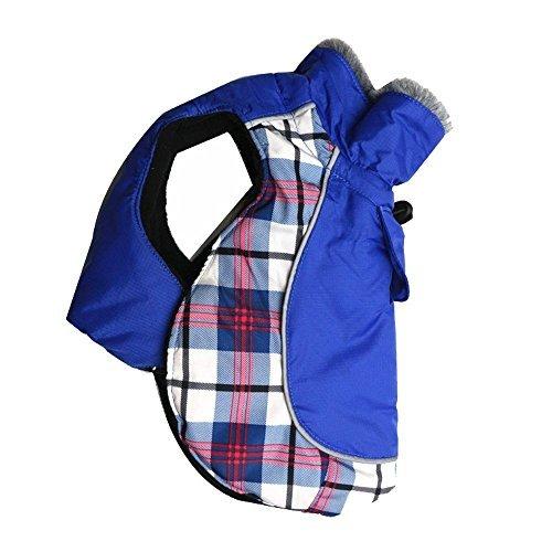 DroolingDog Pet Hund Warm Coat Jacke Pullover mit Nylon Wasserdicht Material und Polyester-Fleece Futter für Mittlere Große Hunde, 2X-Large, Blau Fleece-mesh Pullover