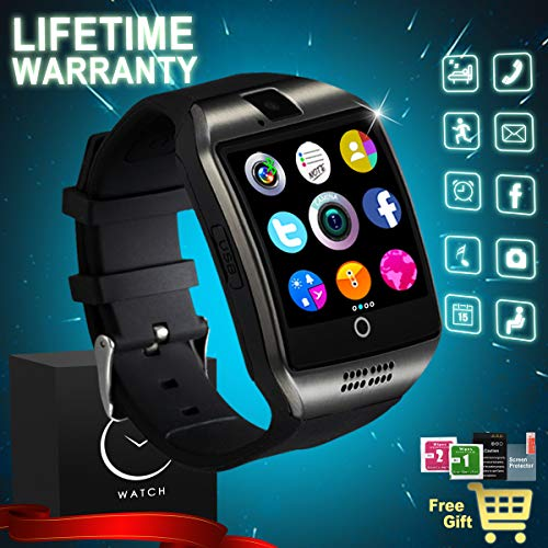 Bluetooth Smart Watch With Camera SIM Card Slot Touch Screen Smartwatch Unlocked...