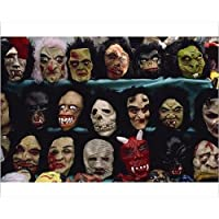 20x16 Print of Rows of Halloween masks on sale (1178512)