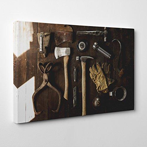 """Big Box Art """"Abri de Jardin Outils Impression sur Toile, Multicolore, 30x 50,8cm/76x 50cm"""
