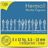 24 Hermoli Modellfiguren unbemalt - stehend 1:200 (TRANSPARENT)