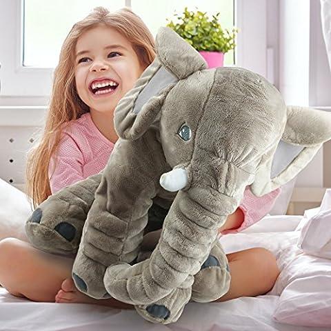 Unimall Elephant Pillow Grey Elephant Stuffed Plush Pillow Cushion Pals Cuddly Baby Toy Gifts for Girls Kids Newborn