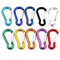 Gimars 6cm Spring-loaded Gate Light Duty Aluminum Locking Carabiner for Home, RV, Fishing, Hiking, Traveling and Keychain
