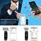 Mpow Fitness Tracker mit Pulsmesser, Wasserdicht Fitness Armbänder Intelligente Armbanduhr Aktivitätstracker Pulsuhr Schrittzähler Uhr Smartwatch Anruf SMS Beachten für iOS Android Handy - 4