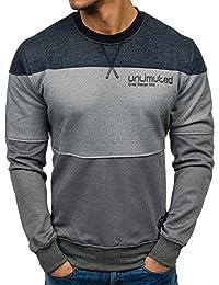 BOLF Herren Pullover Sweatshirt Langarmshirt Sport MIX
