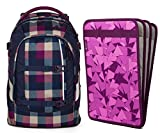 satch pack by ergobag 2er Set Schulrucksack Berry Carry & Heftebox Purple