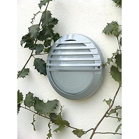Brilliant AG 53680/11 Applique Murale Extérieure Aluminium/Verre 60 W E27 Argent