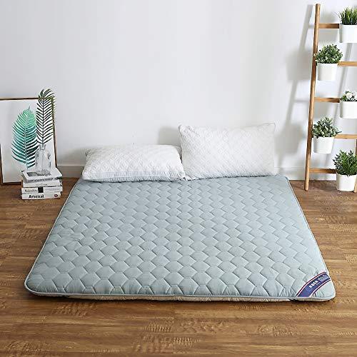 Asdfgh addensare quilting materasso tatami, pieghevoli cotone da terra materasso foam antisdrucciolo dormire pad studente camera dormitorio materasso-grigio king