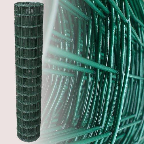 25 Meter Gartenzaun Grün Maschenweite 7,5 x 10 cm (150cm)