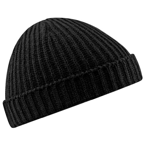 Beechfield Unisex Retro Trawler Winter Beanie Hat Baseball Cap, Schwarz (Black 000), One Size (Sailor Kostüm Hat)